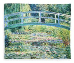The Water Lily Pond By Monet Fleece Blanket