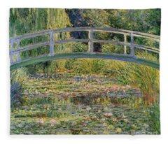Garden Pond Fleece Blankets
