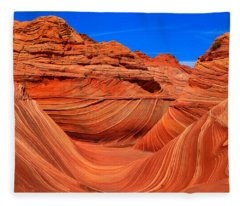 The Wave Wide Panorama Fleece Blanket