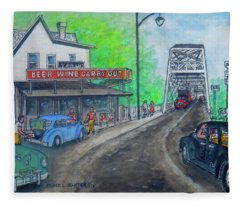 The West End Carryout At The Bridge Fleece Blanket