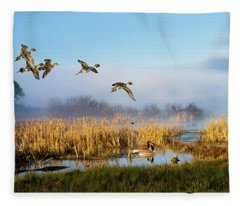 The Wetlands Crop Fleece Blanket
