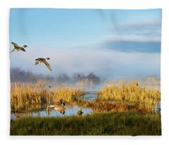 The Wetlands Fleece Blanket