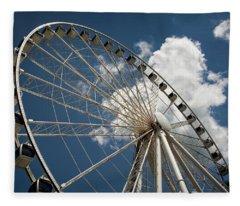 The Wheel And Sky Fleece Blanket