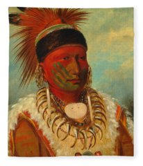 The White Cloud, Head Chief Of The Iowas Fleece Blanket
