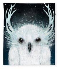 The White Owl Fleece Blanket