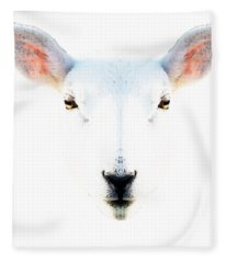 The White Sheep By Sharon Cummings Fleece Blanket