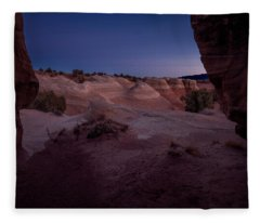 The Window In Desert Fleece Blanket