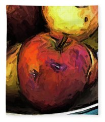 The Wine Apple With The Gold Apples Fleece Blanket