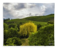 the wineyards of Loc Fleece Blanket
