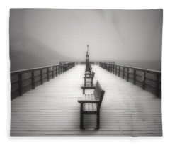 The Winter Pier Fleece Blanket