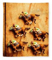 The Wooden Horse Race Fleece Blanket