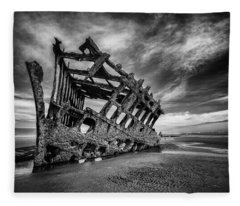 The Wreck Of The Peter Iredale Fleece Blanket