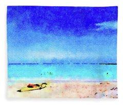 The Yellow Kayak Fleece Blanket