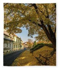 The Yellow Tree Fleece Blanket