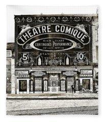 Theatre Comique Fleece Blanket