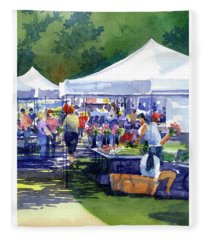 Theinsville Farmers Market Fleece Blanket