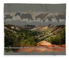 Theodore Roosevelt National Park Fleece Blanket