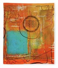 Theory Of Orange Fleece Blanket