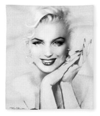 Theo's Marilyn 133 Bw Fleece Blanket