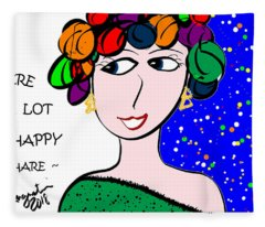There Is A Lot Of Happy   Share Fleece Blanket