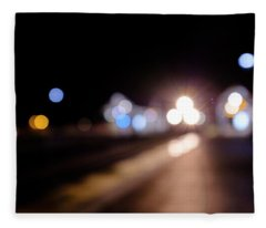 There Is A Train Coming In Winter Park Florida Fleece Blanket