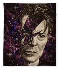 There's A Starman Waiting In The Sky Fleece Blanket
