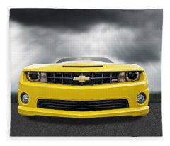 There's A Storm Coming - Camaro Ss Fleece Blanket