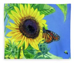 There's Room For Everyone At The Table Fleece Blanket