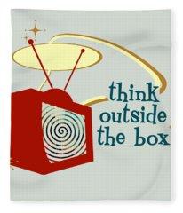 Think Outside The Box Fleece Blanket