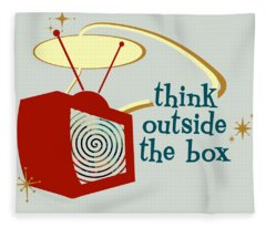 Think Outside The Box Fleece Blanket