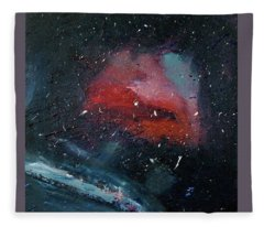 Fleece Blanket featuring the painting Third Eye by Michael Lucarelli