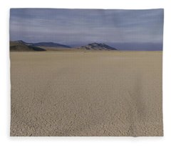 This Is A Dry Lake Pattern Fleece Blanket