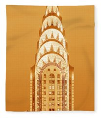 Chrysler Building At Sunset Fleece Blanket