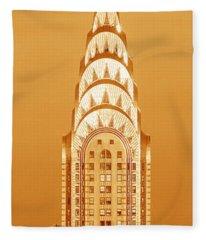 Chrysler Building At Sunset Fleece Blanket