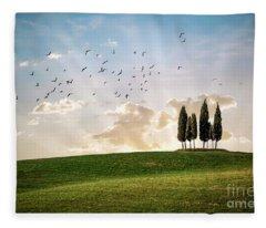 This Majestic Land Fleece Blanket