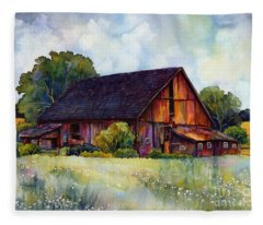 This Old Barn Fleece Blanket