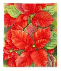 This Year's Poinsettia 1 Fleece Blanket