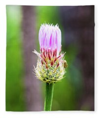 Thistle In The Canyon Fleece Blanket