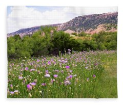 Thistles In The Canyon Fleece Blanket