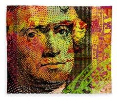 Thomas Jefferson - $2 Bill Fleece Blanket