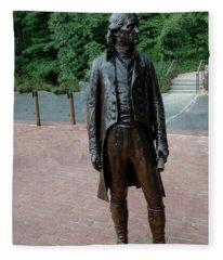 Thomas Jefferson At Monticello Fleece Blanket