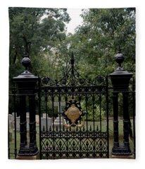 Thomas Jefferson Grave Site Monticello Fleece Blanket