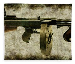 Thompson Submachine Gun 1921 Fleece Blanket