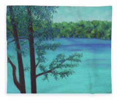 Thoreau's View Fleece Blanket