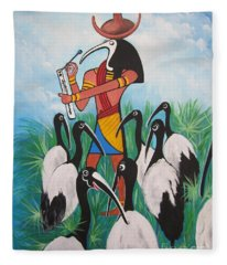 Blaa Kattproduksjoner         Thoth - What's With The Sombrero Fleece Blanket