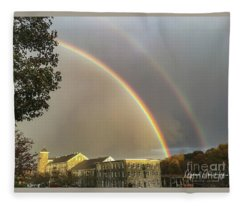 Thread City Double Rainbow  Fleece Blanket