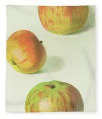 Three Apples Fleece Blanket