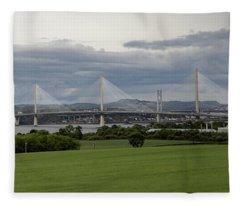 Three Bridges Over The Forth Fleece Blanket