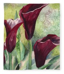 Three Callas Fleece Blanket