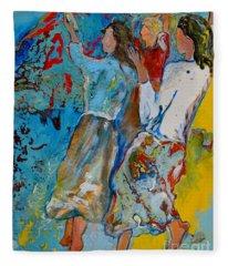 Three Dancers Fleece Blanket